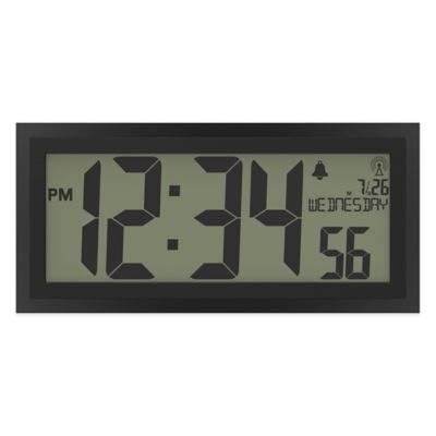 La Crosse Technology Texturized Atomic Digital Wall Clock