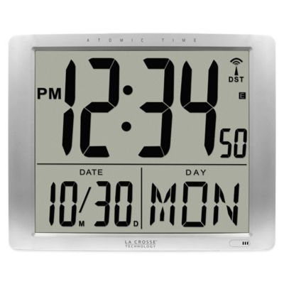 La Crosse Technology Oversized Atomic Digital Wall Clock