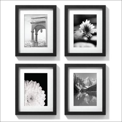 8-Inch x 10-Inch Gallery Frames in Black (Set of 4)