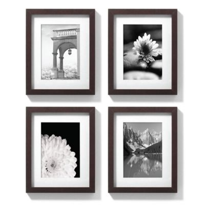8-Inch x 10-Inch Gallery Frames in Espresso (Set of 4)
