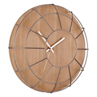 Umbra Cage Wall Clock in Natural