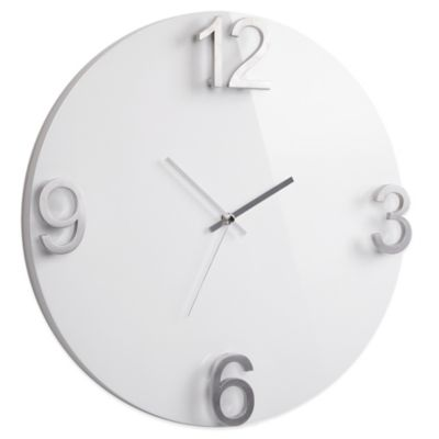 Umbra® Elapse High-Gloss Wall Clock in White