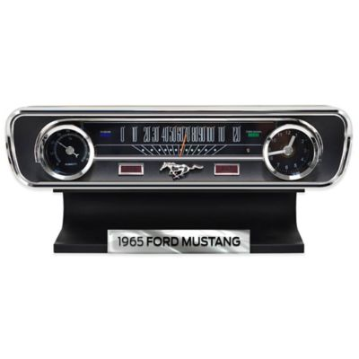 Mustang 1965 Desk Clock Thermometer