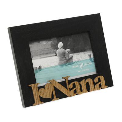 """Isaac Jacobs 4-Inch x 6-Inch """"I Heart Nana"""" Hardwood Frame in Black"""