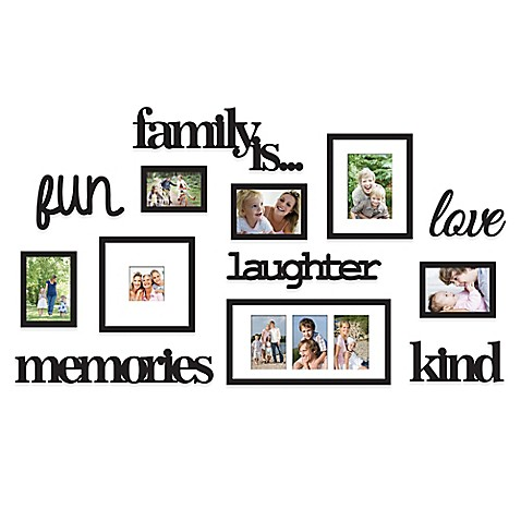 WallVerbs 13 Piece Family Is Photo Frame Set In Satin