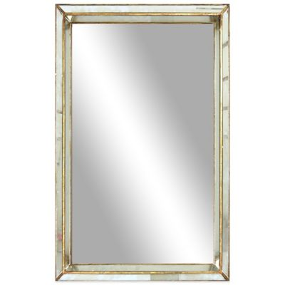 Silver Gold Rectangular Mirror