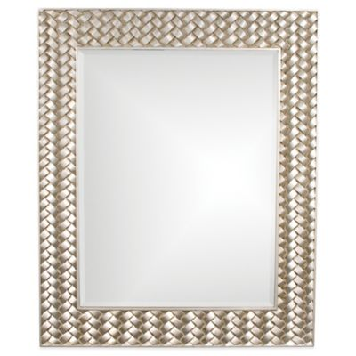 Howard Elliott 36-Inch Rectangular Cabrera Mirror in Silver