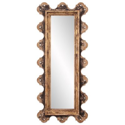 Black Brown Rectangular Mirror