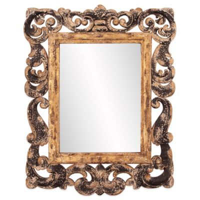 Howard Elliott Isaac 28-Inch x 35-Inch Rectangular Mirror in Gold/Black