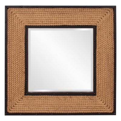 Howard Elliott 36-Inch Square South Hampton Mirror in Brown/Black