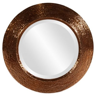 Howard Elliott Nashville 18-Inch Round Mirror in Gold
