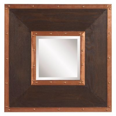 Howard Elliott Zane 20-Inch Square Mirror in Brown/Copper