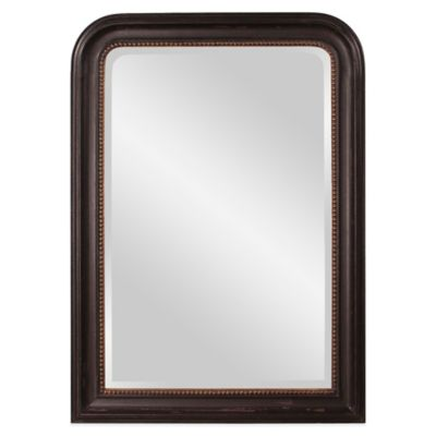 Howard Elliott Carmichael 30-Inch x 42-Inch Rectangular Mirror in Black/Gold