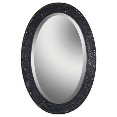 Ren-Wil Harmony 22-Inch x 32-Inch Oval Mirror in Black