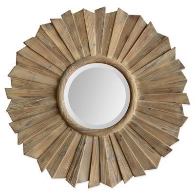 Ren-Wil 40-Inch x 40-Inch Round Kendra Mirror in Wood