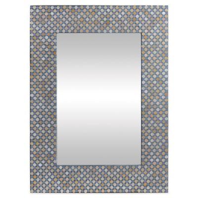 Ren-Wil 31-Inch x 23-Inch Rectangular Mosaic Charleston Mirror
