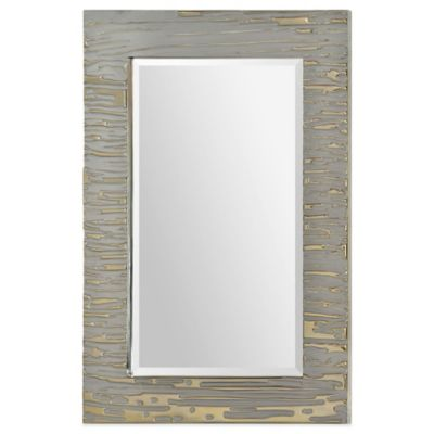Ren-Wil 24-Inch x 36-Inch Rectangular Foxtrot Mirror in Silver