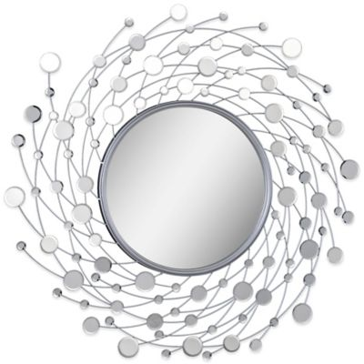 Ren-Wil 38-Inch x 38-Inch Como Mirror in Nickel