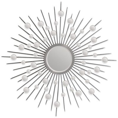 Ren-Wil 45-Inch x 45-Inch Starburst Onice Mirror in Silver
