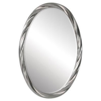 Ren-Wil 30-Inch x 20-Inch Wiltshire Mirror in Silver