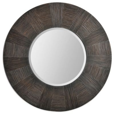 Ren-Wil 30-Inch x 30-Inch Delevan Mirror in Brown