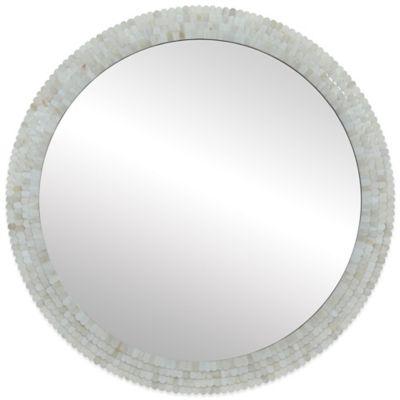 Ren-Wil 36-Inch Inca Round Mirror in Ivory