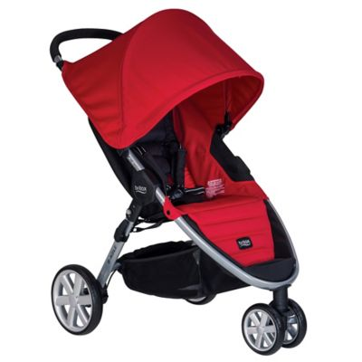 Britax B-Agile 3 Stroller in Red