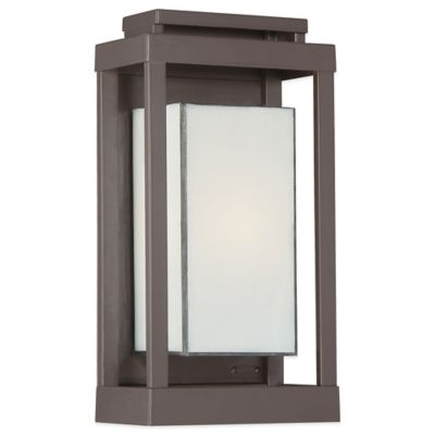 Quoizel Powell Wall-Mount Outdoor Small Lantern in Western Bronze