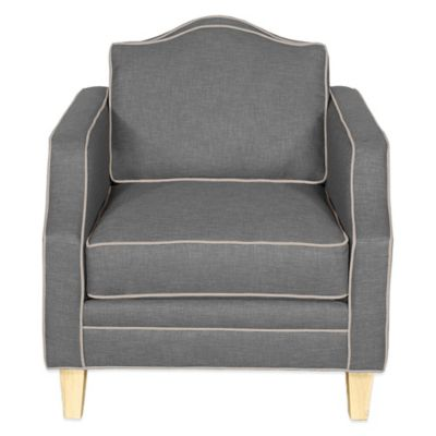 Kyle Schuneman for Apt2B Blackburn Chair in Grey with Sprite Piping