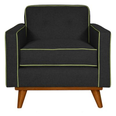 Kyle Schuneman for Apt2B Clinton Chair in Coal with Grey Piping