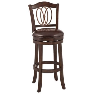 Hillsdale Lyndale Swivel Counter Stool in Cherry