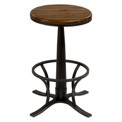 Hillsdale Rivage Backless Swivel Counter Stool in Steel Grey