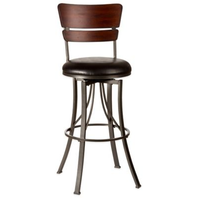 Hillsdale Santa Monica Swivel Barstool in Pewter