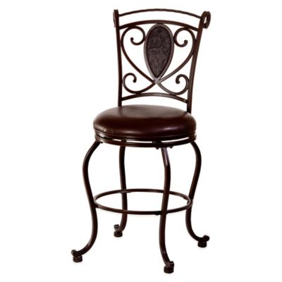 Hillsdale Scarton Swivel Counter Stool in Chocolate