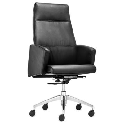 Zuo® Chieftain High Back Office Chair in White