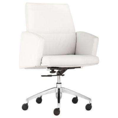 Zuo® Chieftain Low Back Office Chair in White