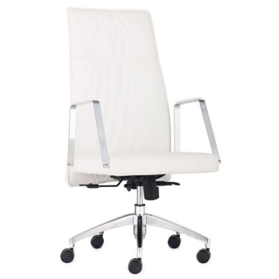 Zuo® Dean High Back Office Chair in White