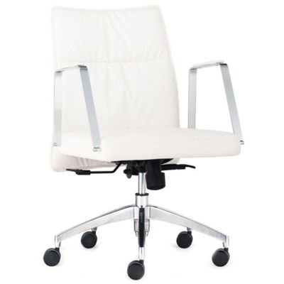 Zuo® Dean Low Back Office Chair in White