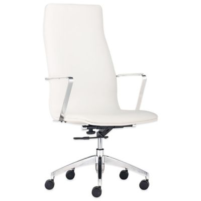 Zuo® Herald High Back Office Chair in White