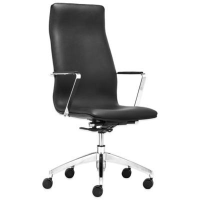 Zuo® Herald High Back Office Chair in Black