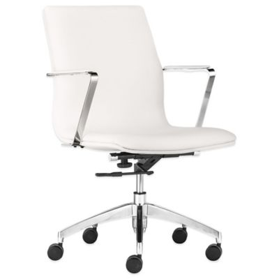 Zuo® Herald Low Back Office Chair in White