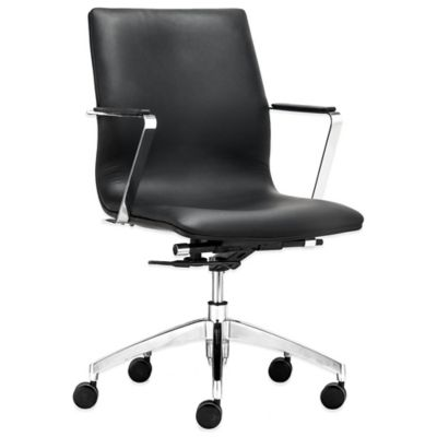 Zuo® Herald Low Back Office Chair in Black