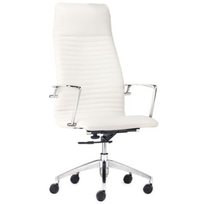 Zuo® Lion High Back Office Chair in White