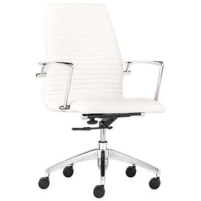 Zuo® Lion Low Back Office Chair in White
