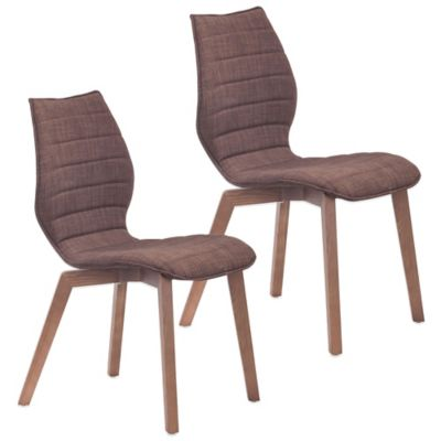 Zuo Aalborg Dining Chairs in Tobacco (Set of 2)