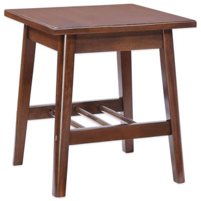 Zuo® Aventura Side Table in Walnut