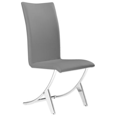 Zuo® Delfin Dining Chair in Grey