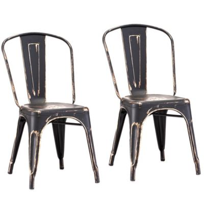 Zuo® Elio Dining Chairs in Antique Black Gold (Set of 2)