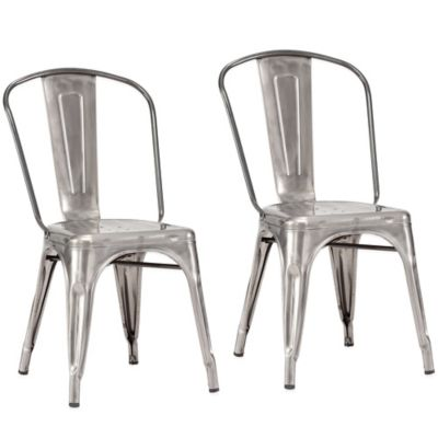 Zuo® Elio Dining Chairs in Gunmetal (Set of 2)