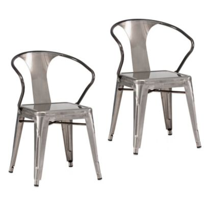 Zuo® Helix Dining Chairs in Antique Black Gold (Set of 2)